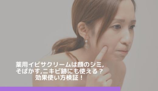 薬用イビサクリームは顔のシミ,そばかす,ニキビ跡にも使える?効果使い方検証!